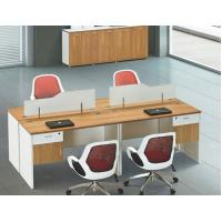 China modern 4 seats office workstation table furniture in warehouse in Foshan wholesale