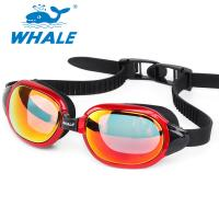Buy cheap No Leaking Silicone Swimming Goggles with Mirrored Revo Lens , orange from wholesalers