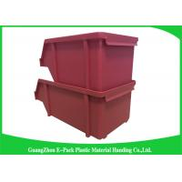 China 20L Shelving Industrial Plastic Totes , Hardware Storage Containers Space Saving wholesale