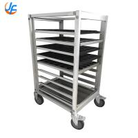 China Alloy Food Trolley Covers Bread Cooling Rack Baking Trolley Bread Tray Rack Trolley wholesale
