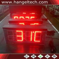China 8 Inches Digits Outdoor Numeric LED Wall Clock wholesale