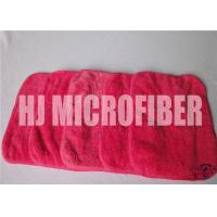 China Red Rose Cleaning Microfiber Cloths With 88% High Water - Absorption Rate 26X36cm wholesale
