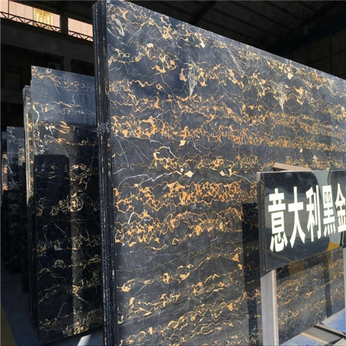 Quality Portoro Gold Marble Stone Slab , Italian Marble Slab CE Certification for sale