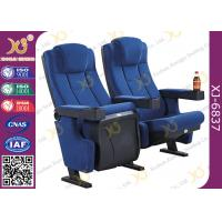 China Molded PU Foam Gravity Fold Up Theatre Seating Chairs Fabric Cover With Push Back wholesale