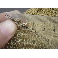 China Rigid Metal Mesh Drapery / Brass Wire Ring Mesh Curtain With 8mm Circle Diameter wholesale