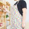 China Custom Printed Cotton Kitchen Apron Canvas Fabric Uniform No Sleeve wholesale