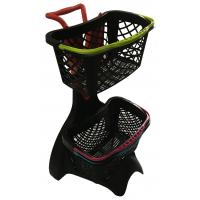 China new plastic basket shopping trolley with and without shopping basket wholesale