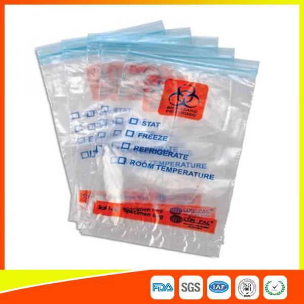 Quality Bolsos médicos para el hospital, bolsos del transporte del sello de la cremallera del Ziplock del Biohazard for sale