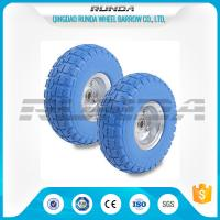China Galvanized Color PU Foam Wheel Shock Proof Smooth Bearings 1.1mm Rim Thickness wholesale