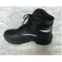 China Middle Cut Injection Black Safety Shoes , Composite Fiber Toe Safety Shoes on sale