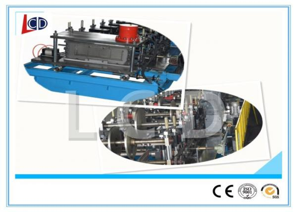 Quality Cantilever Type Steel Roll Forming Machine With Punching System 3KW Hydraulic Motor for sale