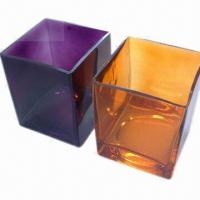China Glass Vase with Modern and Fresh Style Design, Square Vase wholesale
