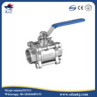 Buy cheap High quality 3pcs stainless steel threaded type ball valve for water gas oil from wholesalers