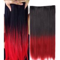 China High Temperature Fiber Red Synthetic Hair Extension Natural Curly wholesale