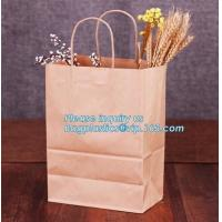 China Wholesale kraft paper bag for bakery bread paper bag for bread,Carbon Branded Shopping Bread Brown Craft Paper Bag, PACK wholesale