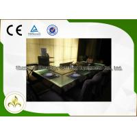 China Green Light Glass Table Commercial Teppanyaki Grill Electric Steel Frame Customized on sale