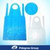 China Waterproof Blue Polyethylene Apron HDPE Embossed With Head Loop wholesale