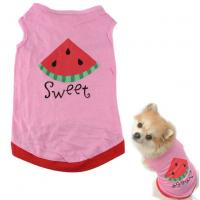 pink Pet Puppy Summer Shirt Pet Clothes T Shirt with watermelon printing