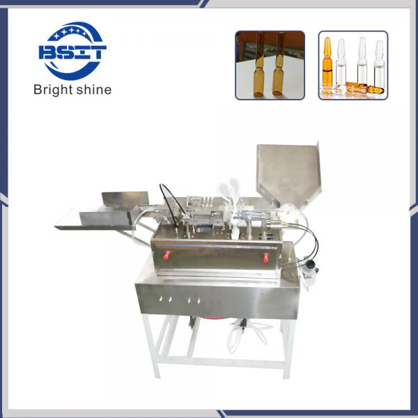 Quality 5ml empty glass ampoule bottle filling and sealing machine with 2 filling heads for sale