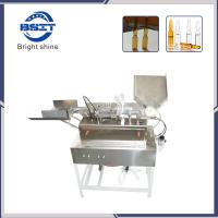 China 5ml empty glass ampoule bottle filling and sealing machine with 2 filling heads wholesale