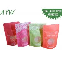 China 1 / 8oz Stand Up Food Packaging Bags Double Track Tab For Dried Flower Tea wholesale