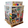 Portable Large Corrugated Cardboard Pallet Display Shelf For Stationery