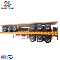 China Freight Transport Flatdeck 40ft Shipping Container Truck Trailer on sale