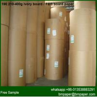 China 300g 350g 400g  round fbb board paper / ivory board cardboard white gift box for paper tag wholesale