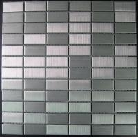 China 23x48mm Washable Metal Mosaic Tiles, Stainless Steel Mosaic Wall Tiles wholesale