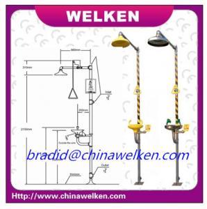 "China WELKEN BD-560  10"" ABS yellow head eyewash, stainless steel combination eyewash wholesale"