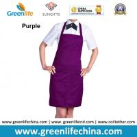 China Top quality purple apron with front proket custom printing logo for company advertisment wholesale