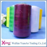 China Dyed Sewing Ring Spun Polyester Thread with 100% Spun Polyester Short Fiber on sale