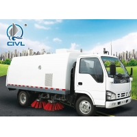 China 4 vertical cylinder Sweeper Garbage Compactor Truck Euro III standard Energy-Saving Euro, road cleaning truck wholesale