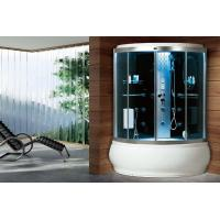 China waterproof carbonized Bamboo Frame Acrylic Wet sauna cabin steam shower rooms wholesale