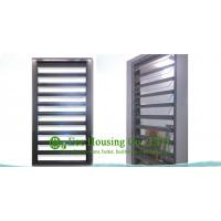 China Hurricane-proof Aluminum Glass Louvered windows With Removable Screen,Jalousie louvre wholesale