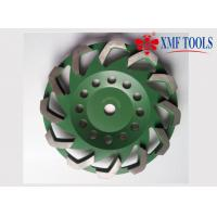 China Fan Cup Turbo 7 Inch Concrete Masonry Grinding Wheel 115mm Green Color wholesale