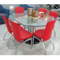 China 42 Inch Round Tempered Glass Table Top Float Bronze For Office / Meeting Room wholesale