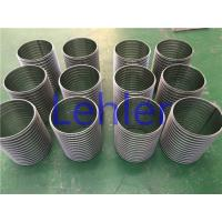 China Stainless Steel Wedge Wire Mesh , Cylinder Welded Johnson Wire Screen wholesale