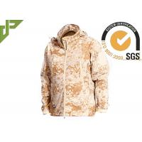 China Windproof Desert Tactical Softshell Jacket , Military Style Coat For Outdoor Sports wholesale