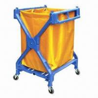 China Plastic Laundry X Cart Janitor Cart, Durable and Lightweight wholesale