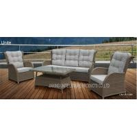 Wicker Conversation Patio Seating Sets / Patio Furniture Table And Chairs Weatherproof