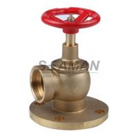 "Fire Hydrant Valve with Flange PN 16 Male 1.5"" Right Angle with Female Thread - Brass"