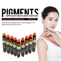 Multi Color Organic 8ml Semi Permanent Makeup Pigments , Eyebrow Tattoo Ink