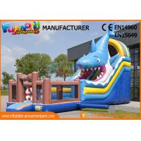 Buy cheap Giant Animal Shark Inflatable Dry Slide For Entertainment / Blow Up Bouncer from wholesalers