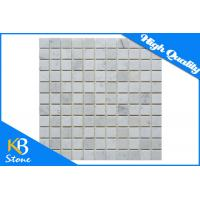 China Italian Carrera Marble Square Mosaic Wall Tiles 1 x 1 Inch Polished for Bathroom / Flooring / Pool on sale