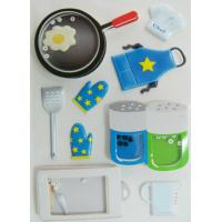 China Ait Shaker Freezer Cute Sticker Sheets With Bean Printed Cooking Utensils wholesale