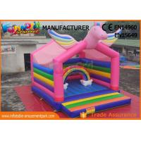 Buy cheap Commercial Jumping Castle Inflatable Bounce House Inflatable Unicorn Bouncer from wholesalers