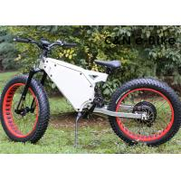 China Electric Fat Tire Mountain Bike With Electric Hub Motor , Fat Tire Motorized Bicycles wholesale