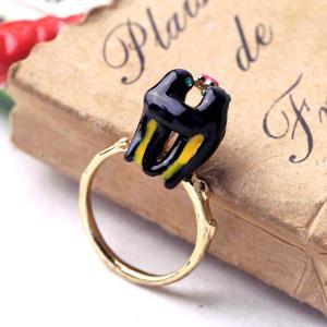 China Cute animal fashion jewelry swallow shaped enamel animal gold ring wholesale