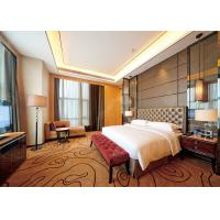 Golden Style Leather Luxury Hotel Bedroom Furniture Customized Color Optional